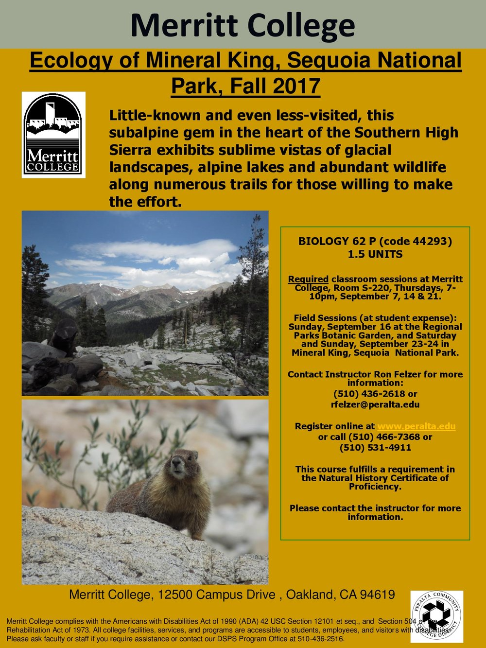 Ecology of Mineral King, Sequoia National Park  -