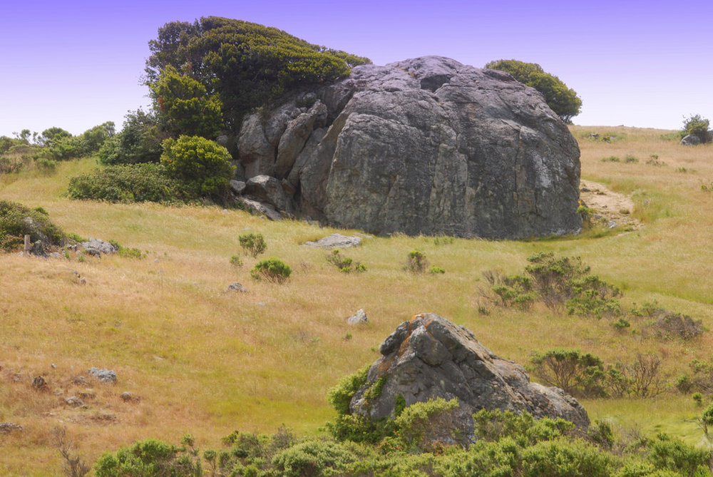 Split Rock, one of the stunning examples of metamorphic rock on Ring Mountain
