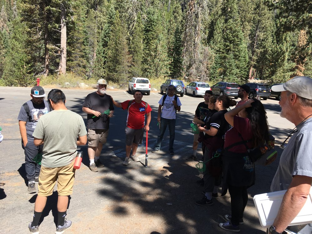 A group of students from Los Angeles County that came up for the Bioblitz