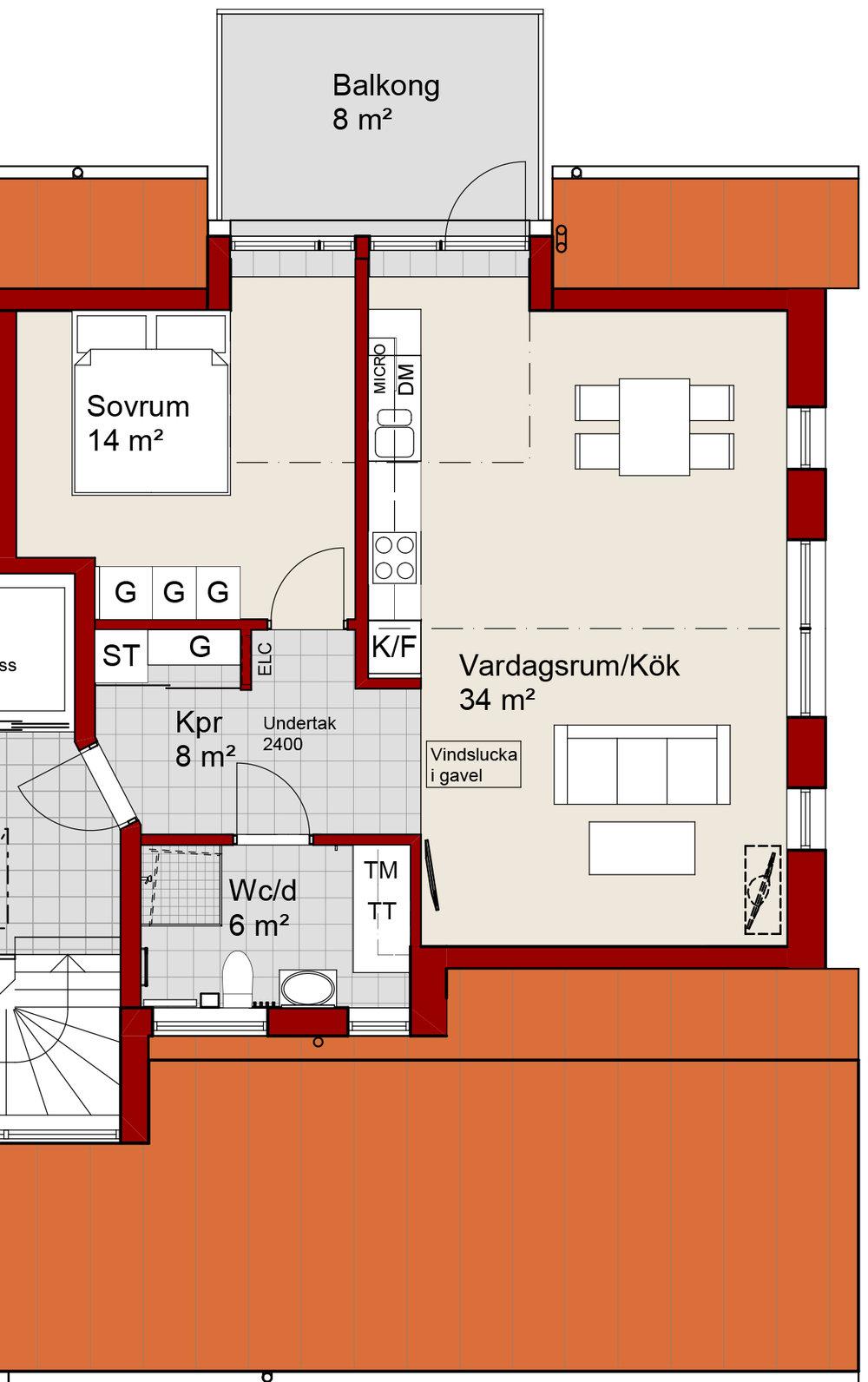 Ex. Vind 2 rum och kök