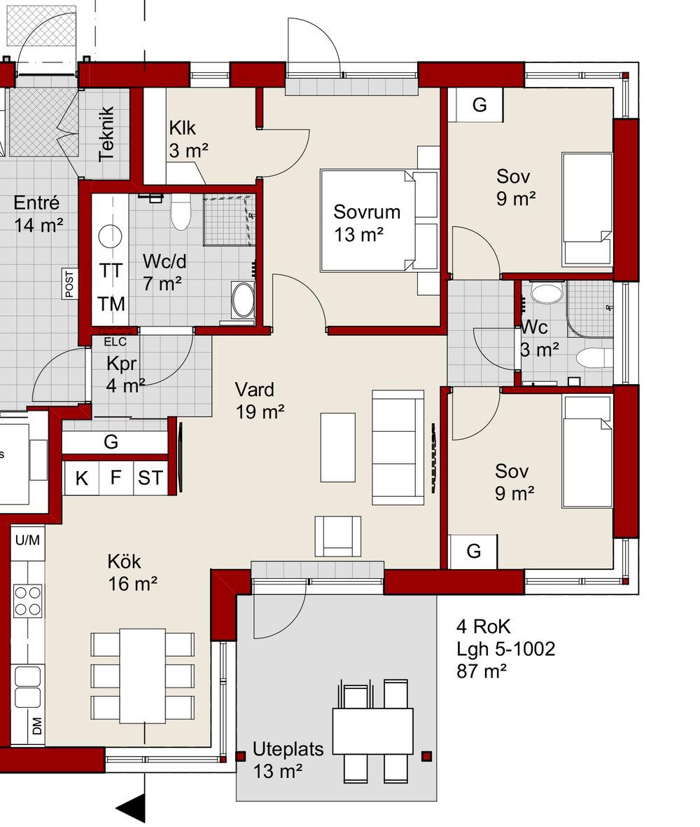 Ex. 4 rum och kök