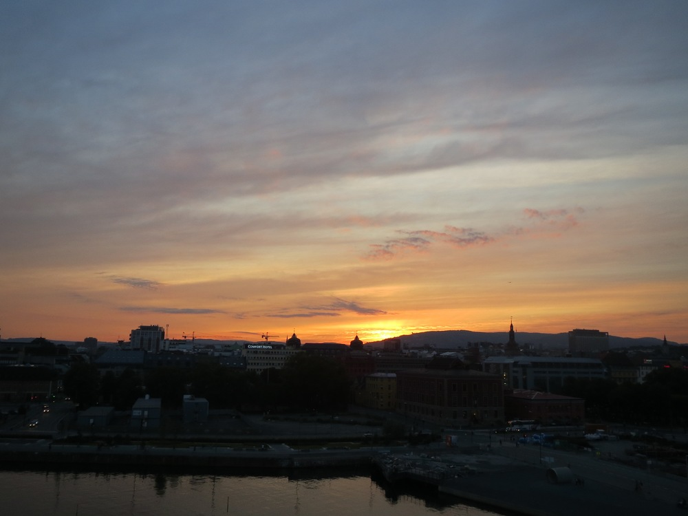 The sunset over Oslo that changed everything for me.
