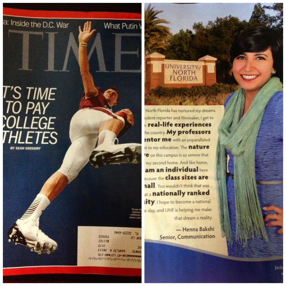 Appearing in TIME magazine.