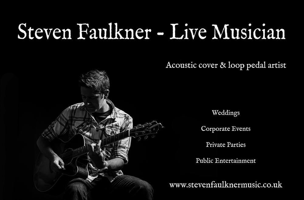 Steven Faulkner, Wedding Singer, Artist & Musician, Derbyshire, Leicestershire, Staffordshire, Nottinghamshire, Midlands, UK, England, Europe