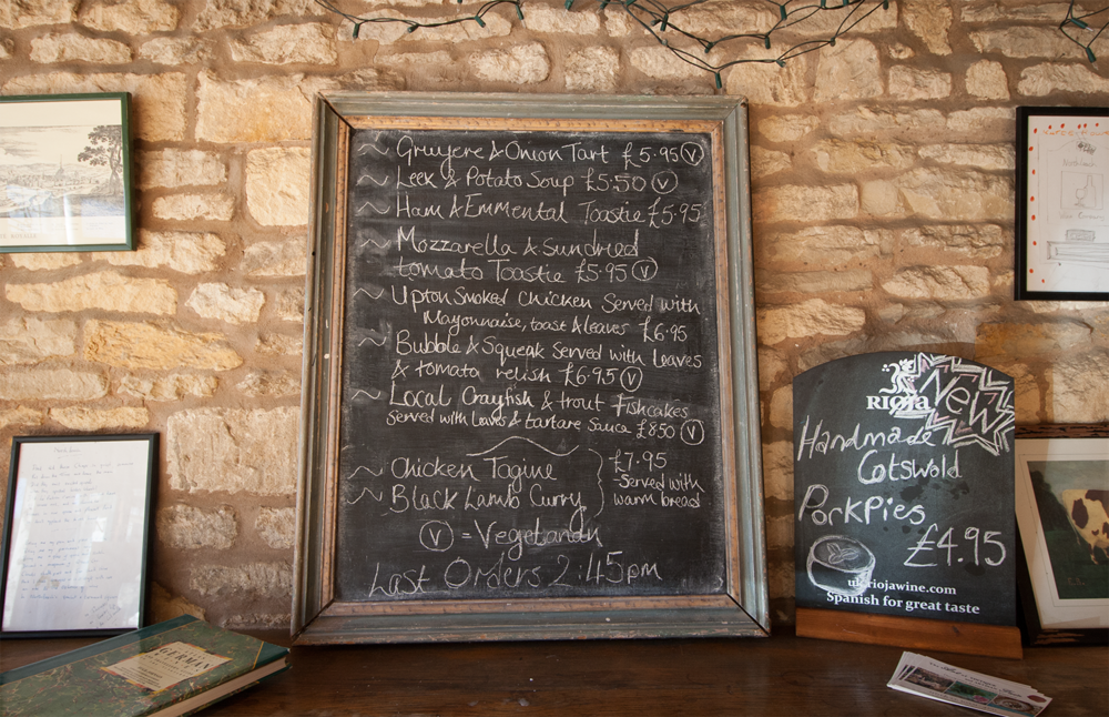 Our Bistrot Menu