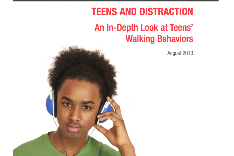 Teens and Distraction: An In-Depth Look at Teens' Walking Behaviors-SKW-photo
