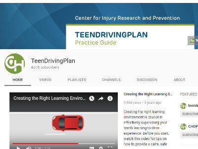 Teen Driving Plan Videos – CHOP*