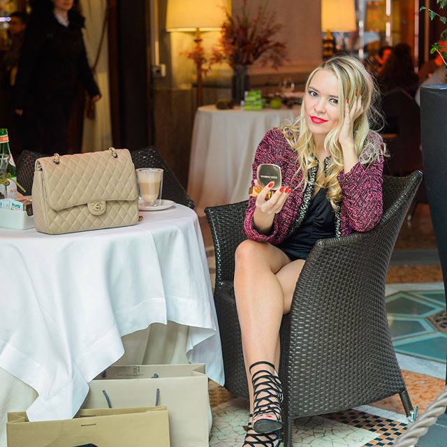 """I don't do fashion. I am fashion."" —Coco Chanel — Model: @victoryalferova  Jacket: @thekooplesofficial  Dress: @bcbgmaxazria  Shoes: Lui E Lei Handbag: @chanelofficial  Lipstick: @ysl  Makeup: @dolcegabbana  #fatefotos #foralltoenjoy #brandingsession #dcphotogprapher #dmvphotographer #milan #milanphotographer #internationalphotographer #entrepreneur #photograpHer #portraitphotographer #brandingphotographer #beauty #fashion #makeup #blogger #beautyblogger  #thekooples #bcbg #lui&lei #chanel #ysl #dolce&gabanna"