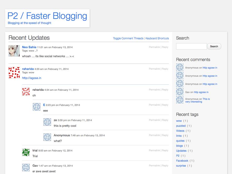 p2 blog template