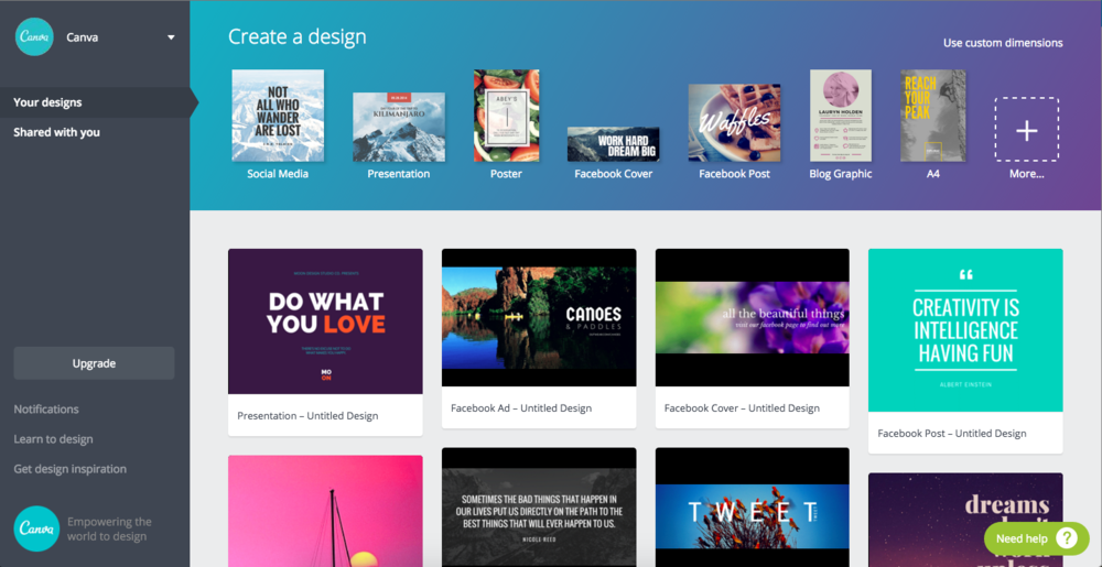 canva design tool