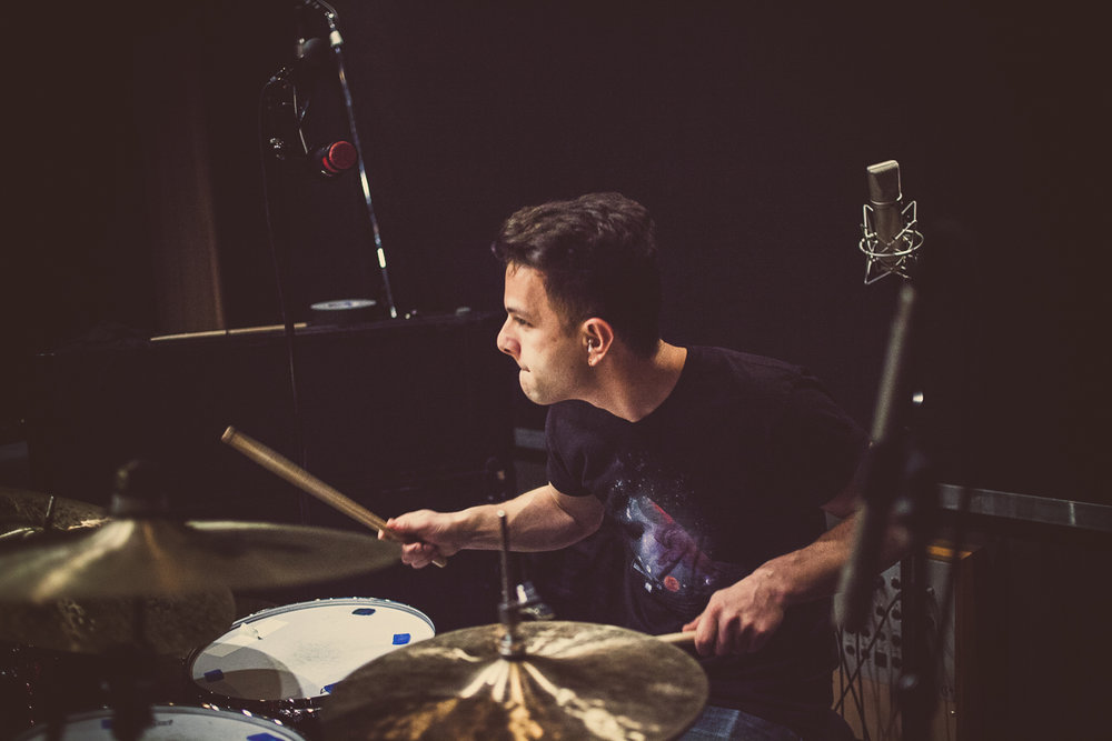 In the studio at Converse Rubber Tracks, December 2015