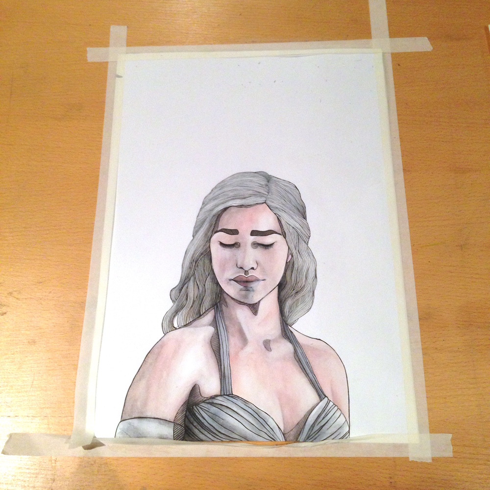 Dany Watercolour complete!
