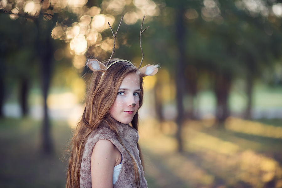 DYI Deer Halloween costume.