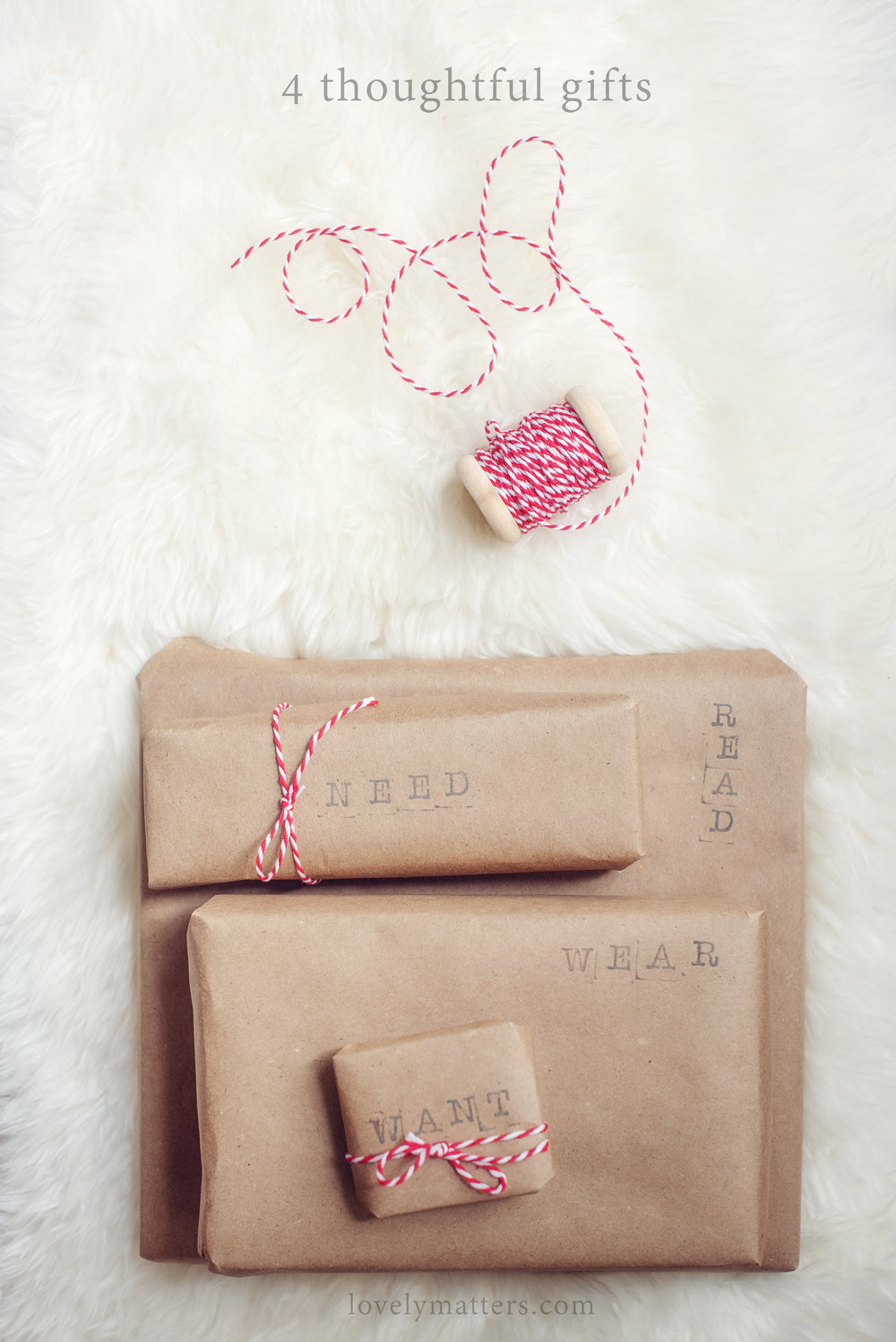 4 thoughtful Christmas gifts ~ lovely matters blog by Heather Walker ~ Christmas simplified