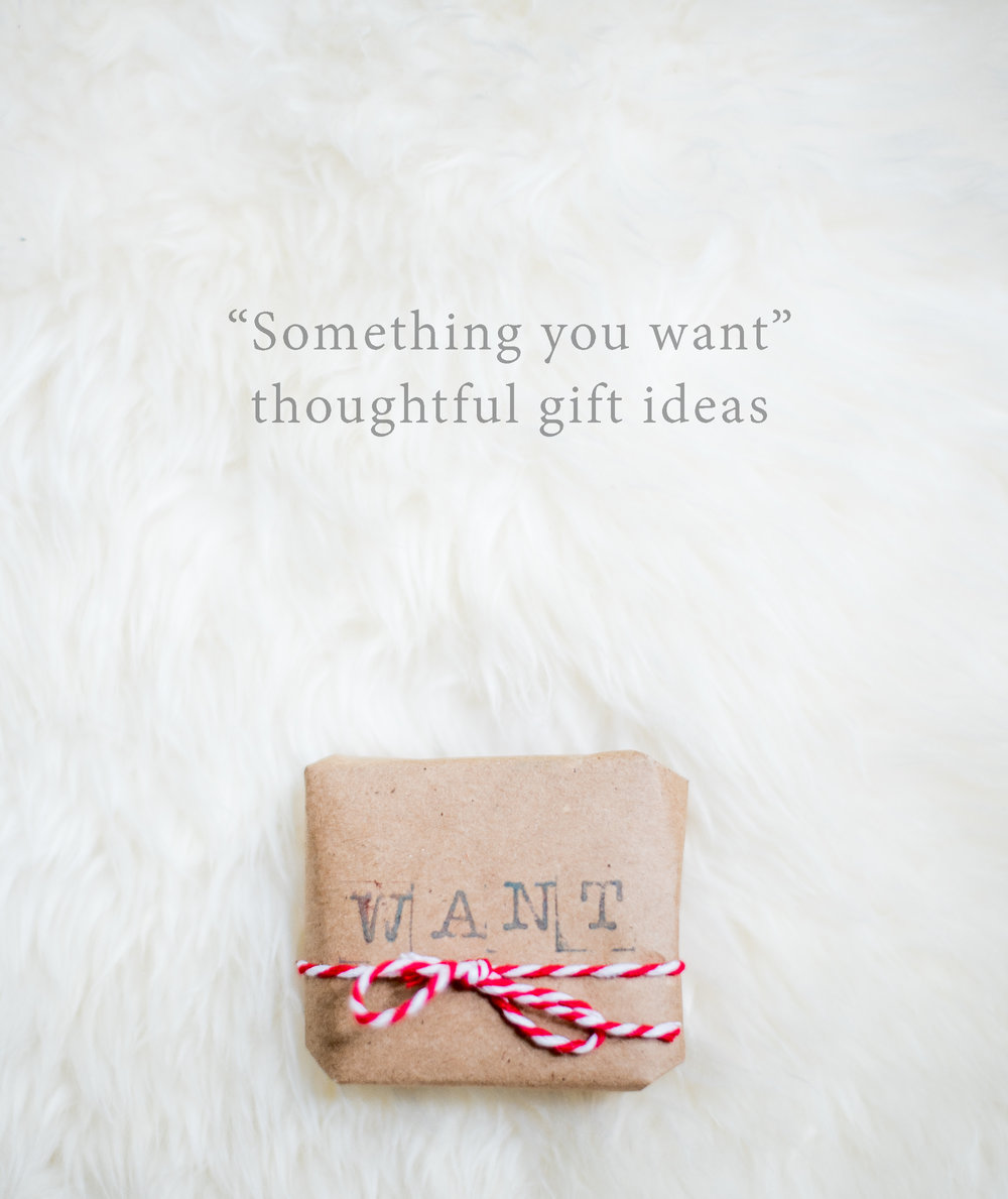 4 thoughtful gifts for Christmas - something you want (part 2 of 4).  Lovely Matters Blog by Heather Walker