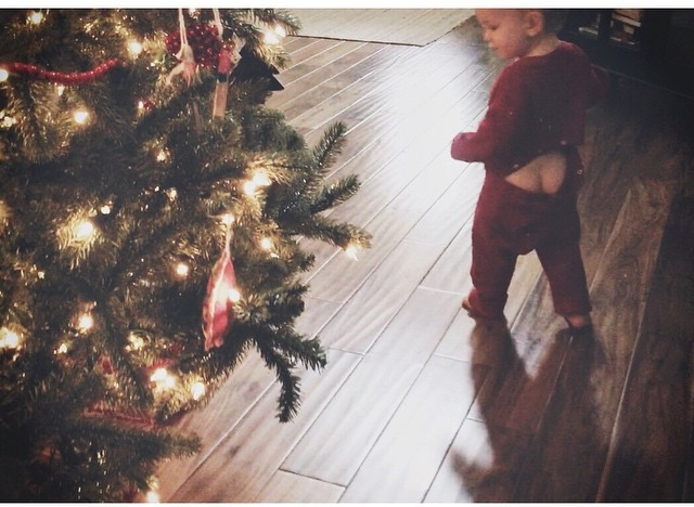 """dancing around the Christmas tree"""
