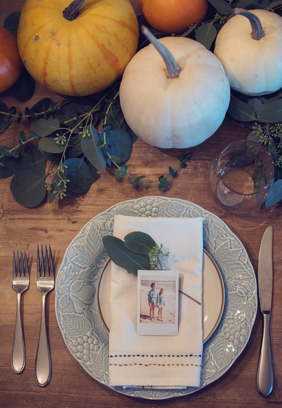 make your thanksgiving table personal with a photograph.  Lovely Matters by Heather Walker