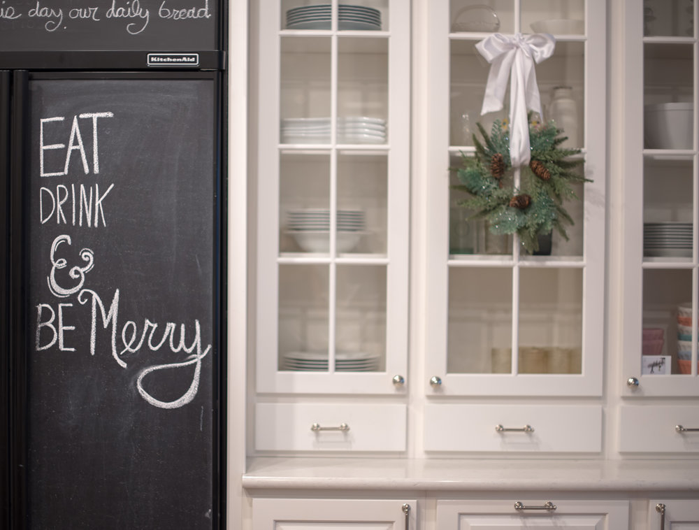 Our fridge chalkboard is always a simple place to decorate for the different holidays.