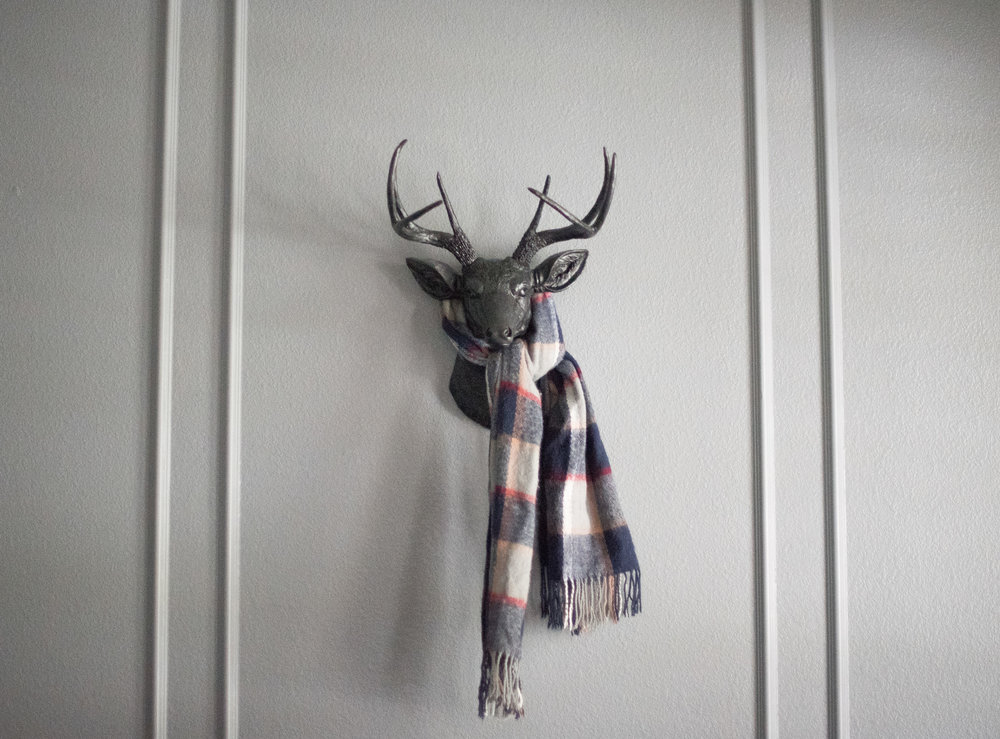My hubby's office is now complete with winter attire ;)