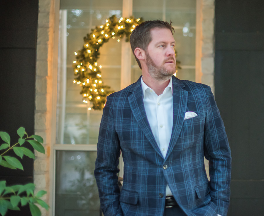 Loved this  Plaid Blazer  my hubby wore so well!