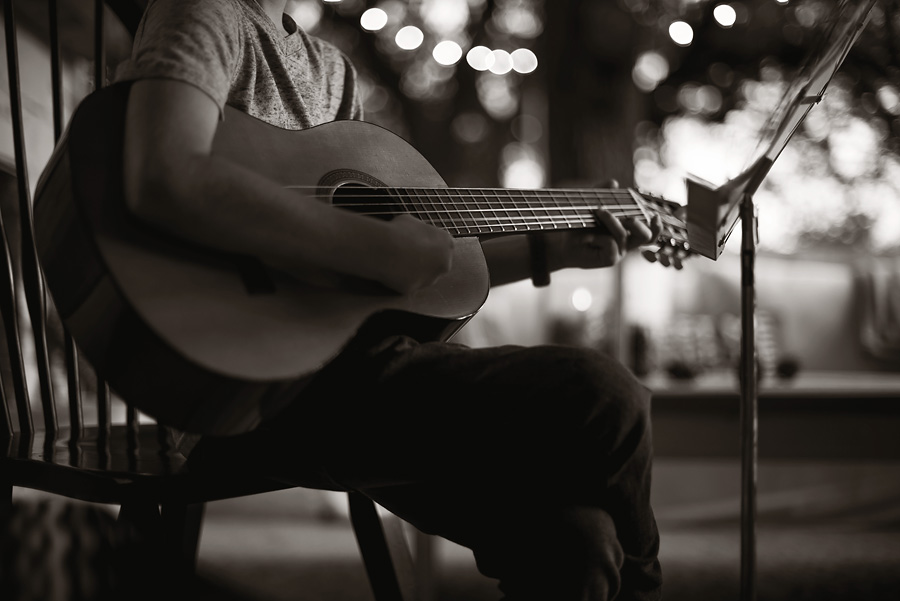 Outdoor guitar recital.  Lovely Matters Blog by Heather Walker