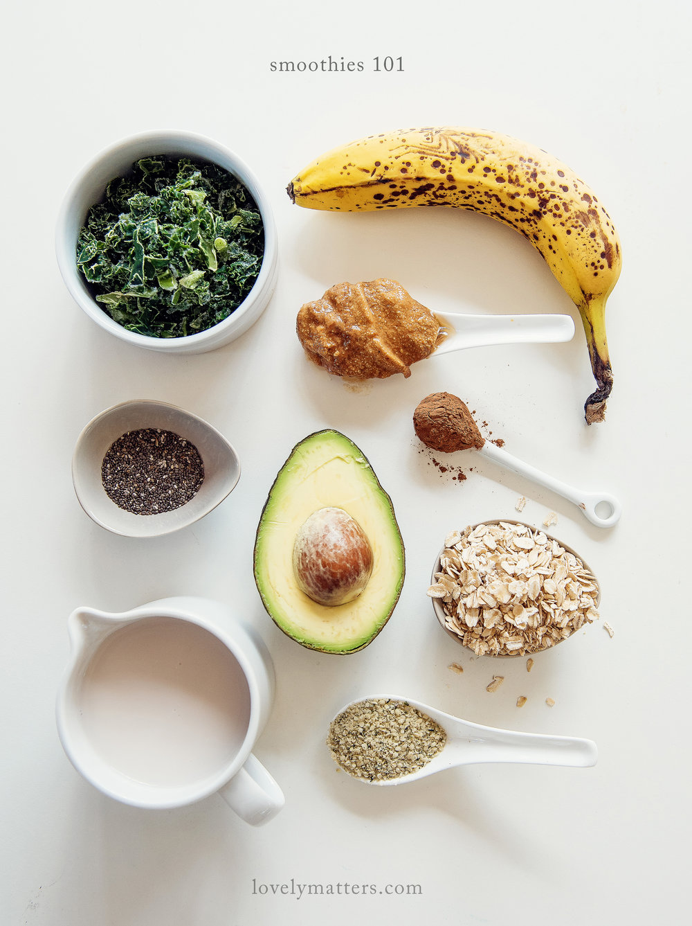 Smoothies 101 - the why and what of smoothie ingredients - lovely matters blog by Heather Walker