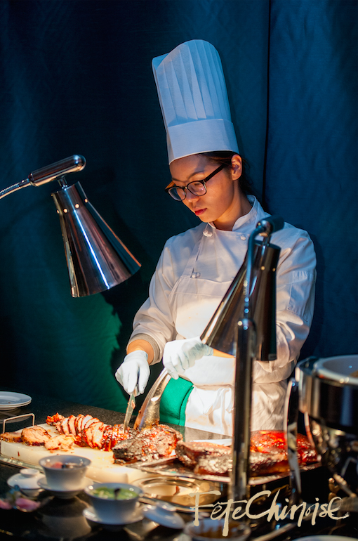 The Shangri-La Hotel, Toronto serving delicious Pork Belly in the Late Night Snack Segment of Fête Chinoise. Photo by Krista Fox Photography.