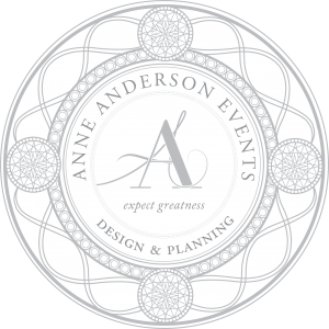- Anne Anderson Events is a full service event and planning company. As a leading trend setter for design, Anne Anderson Events creates breathtaking weddings with meticulous attention to every detail.