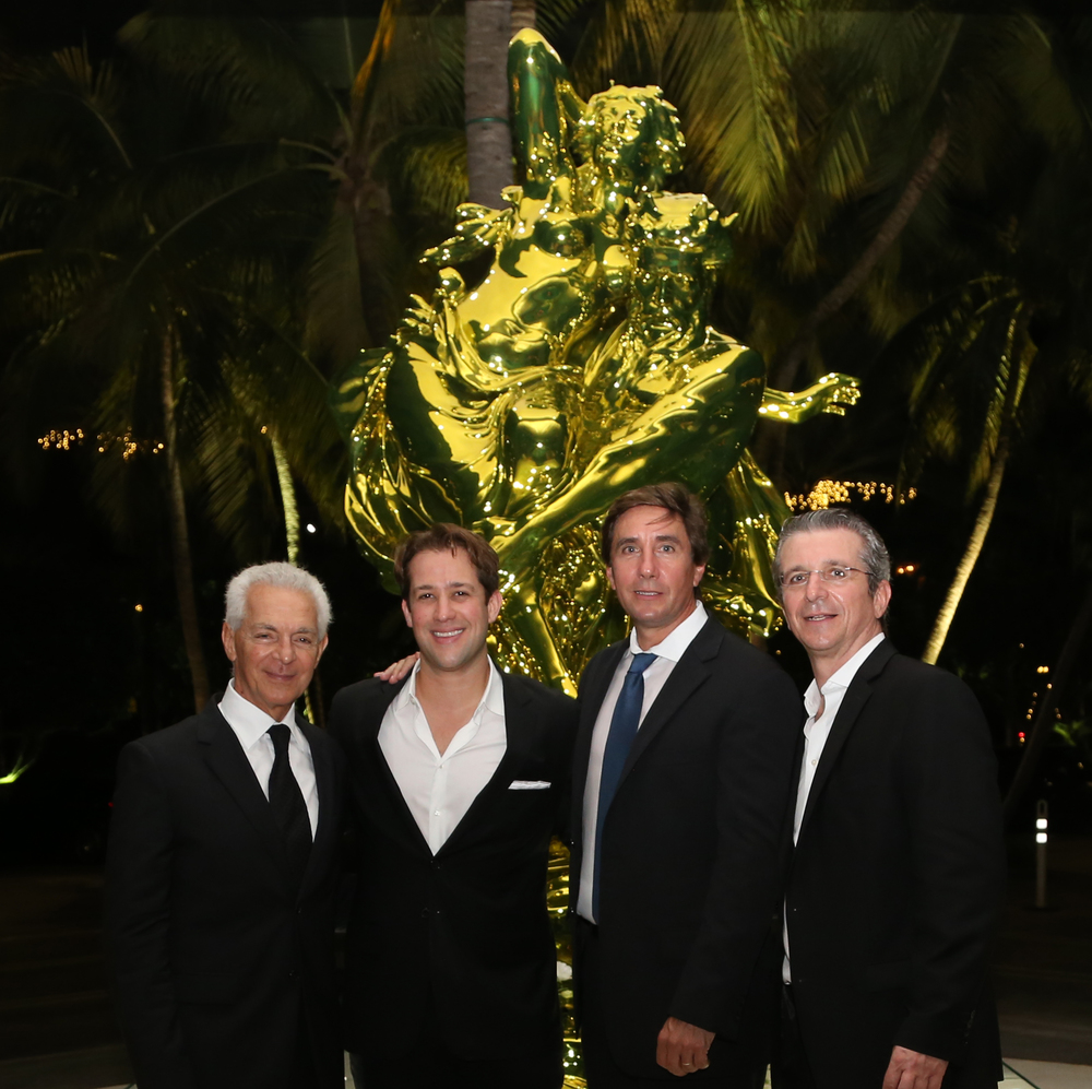 On the picture, from left to right: Eduardo Constantini, Chariman of Consultatio, Matias Alem, CEO of Beyond Realty Group, Marcos Corti-Maderna, CEO of Consultatio and Ernesto Cohan, Director of Sales Oceana.