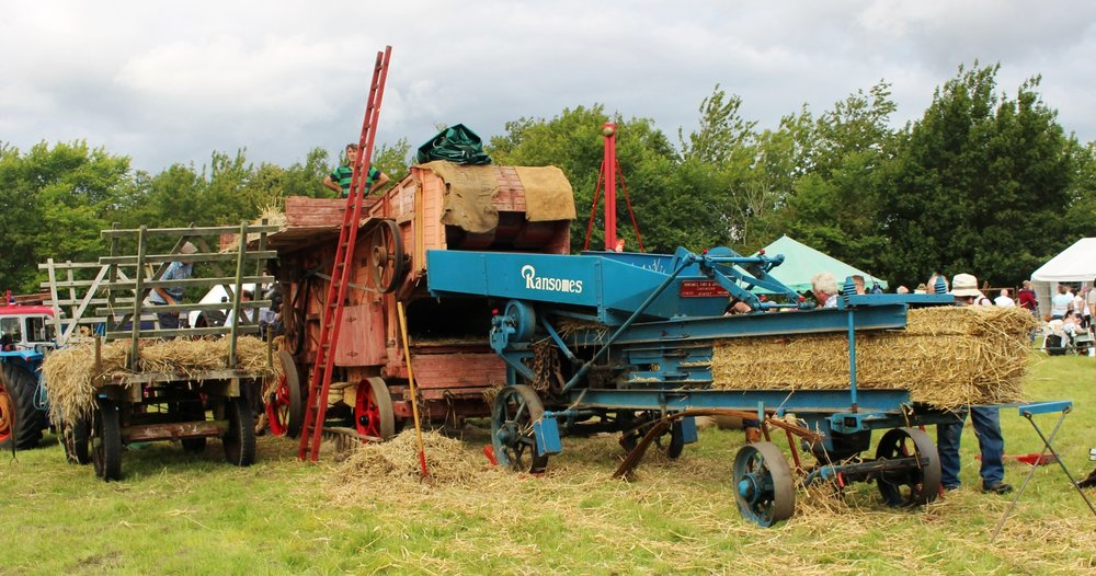 HIGHLY COMMENDED: Steam Threshing & Baling....Bardwell Mill by Tony Parsfield