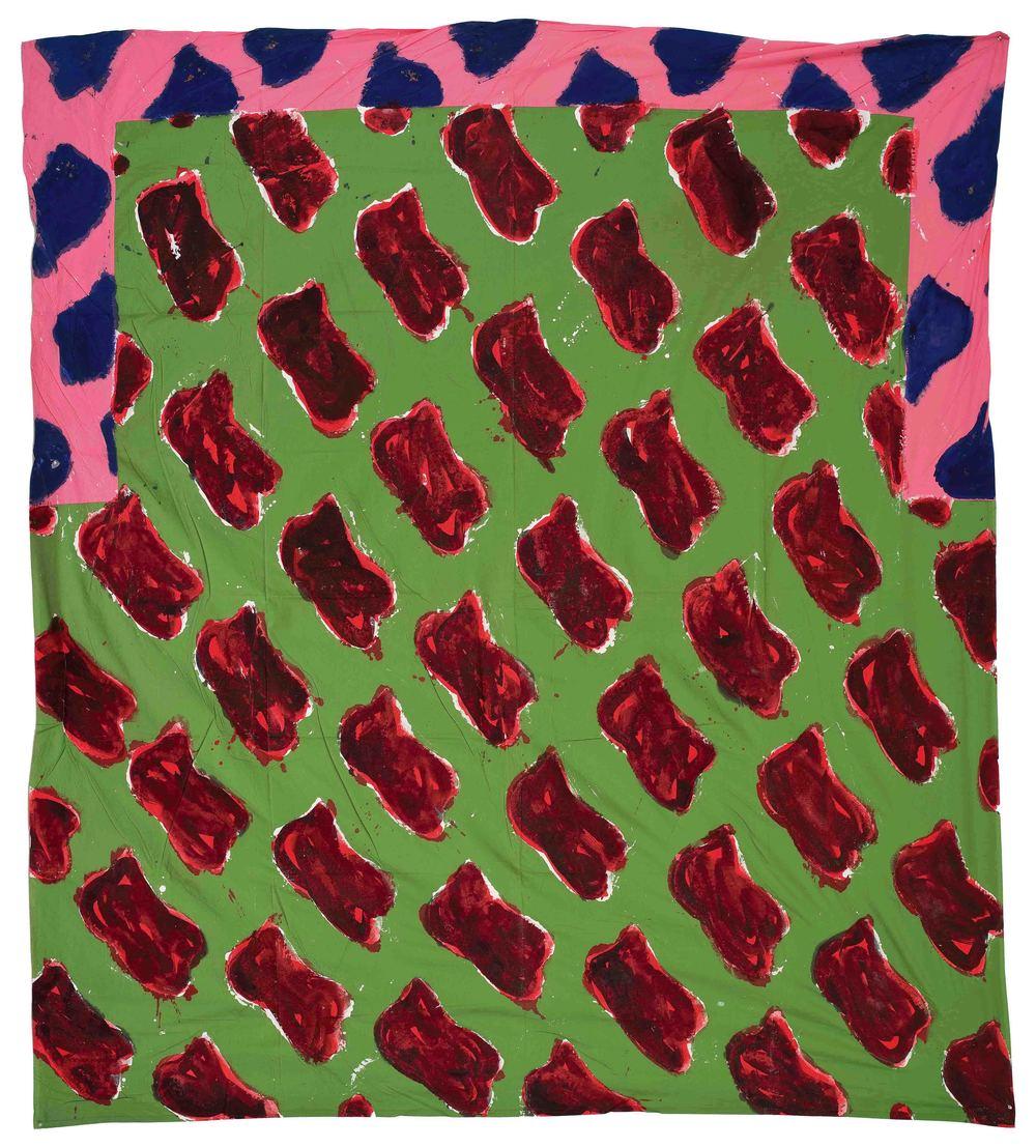 Sans titre n°63  (1986)  Claude Viallat  Courtoisie Galerie Daniel Templon  Photo : B.Huet-Tutti