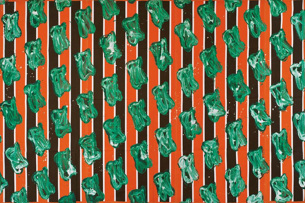 Sans titre n°3  (1984)  Claude Viallat  Courtoisie Galerie Daniel Templon  Photo : B.Huet-Tutti