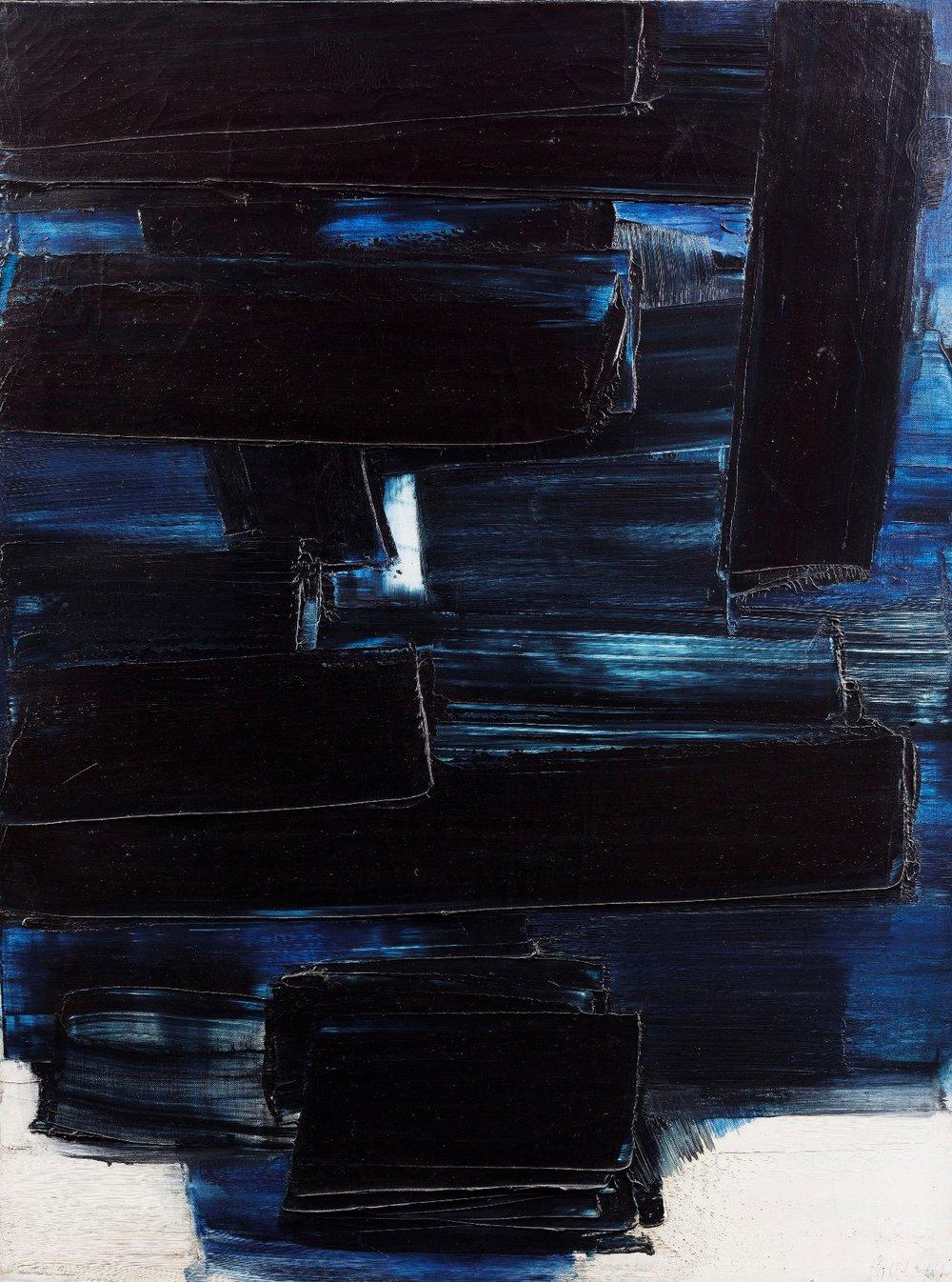 Peinture 130 x 97 cm, 5 mai 1959     Pierre Soulages     Courtoisie   Galerie Applicat-Prazan