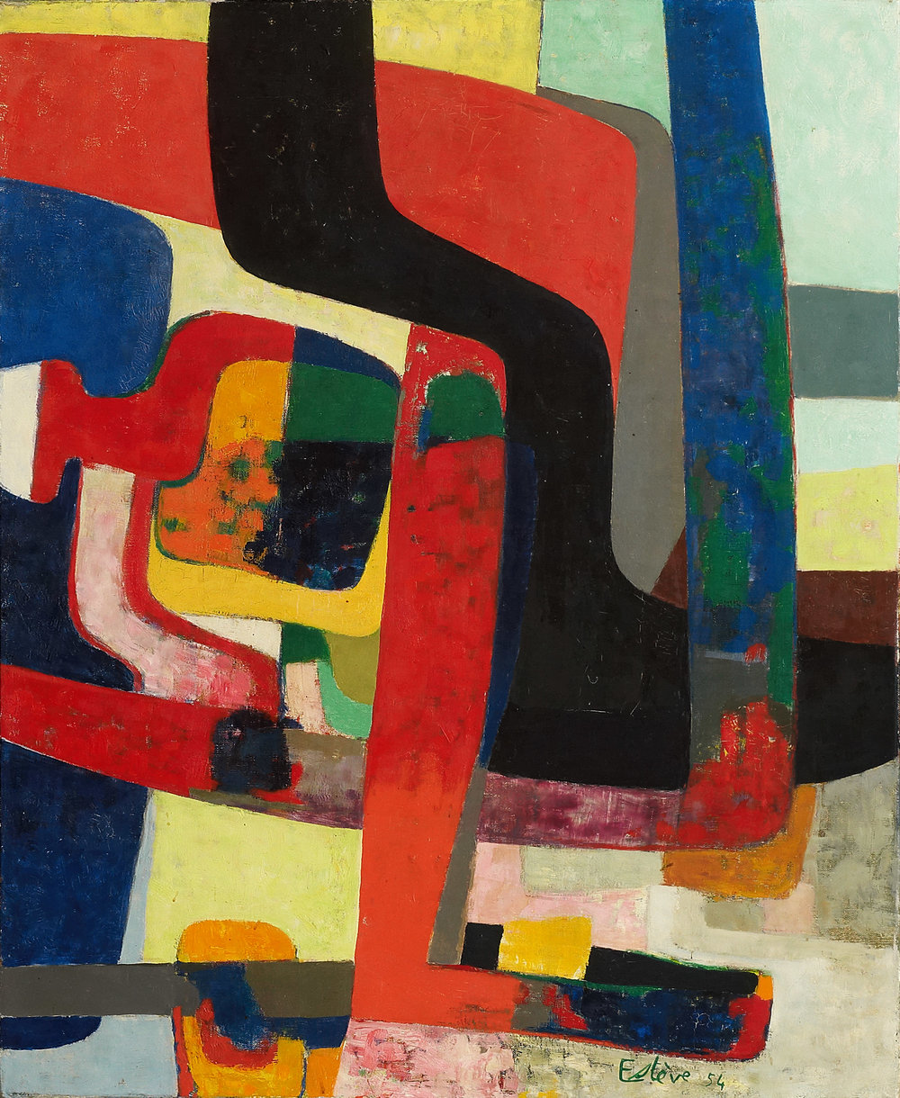Nohant-Vicq (   1954)    Maurice Estève    Courtoisie   Galerie Applicat-Prazan