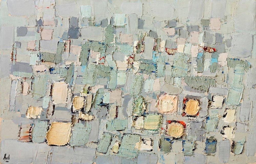 Composition claire  (  1951)    Nicolas de Staël     Courtoisie Galerie Applicat-Prazan