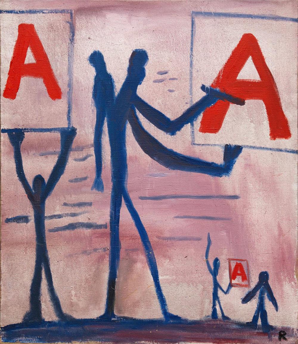 Ohne Titel (Systembild)  (1966)  A.R. Penck  © Adagp Paris 2017 - Courtesy Galerie Michael Werner Märkisch Wilmersdorf, Köln & New York