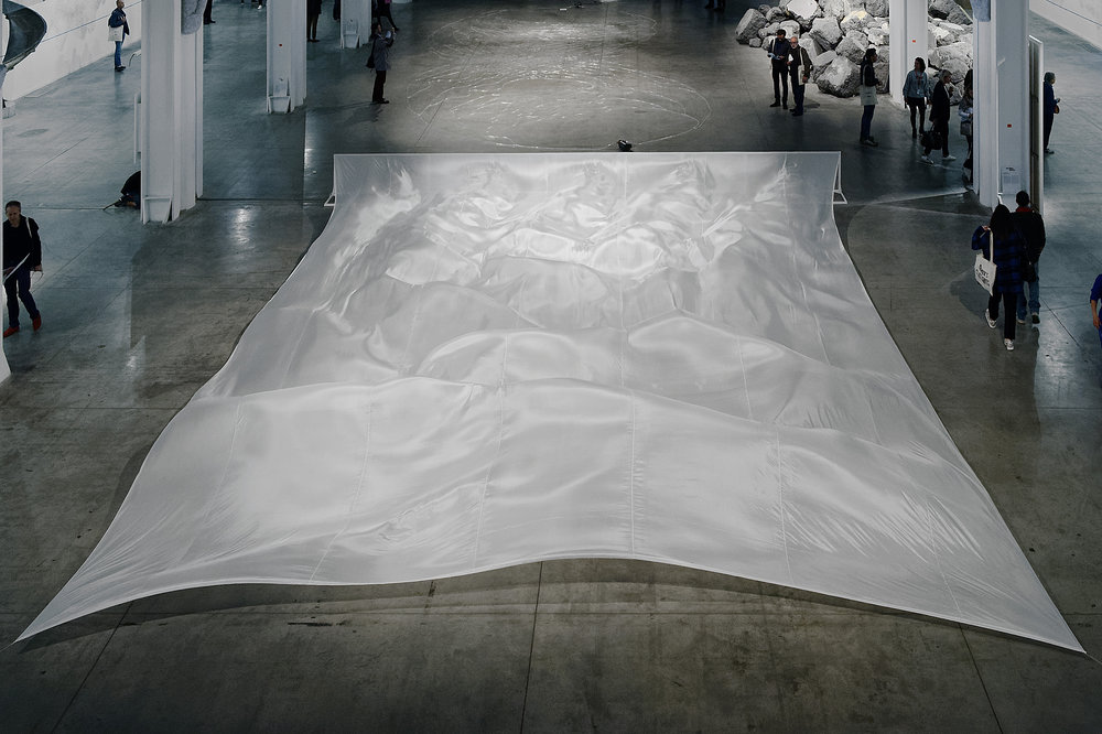 Wide White Flow  (1967-2017)  Hans Haacke  Courtoisie de l'artiste et de la Biennale de Lyon, Photo : Blaise Adilon © Adagp 2017