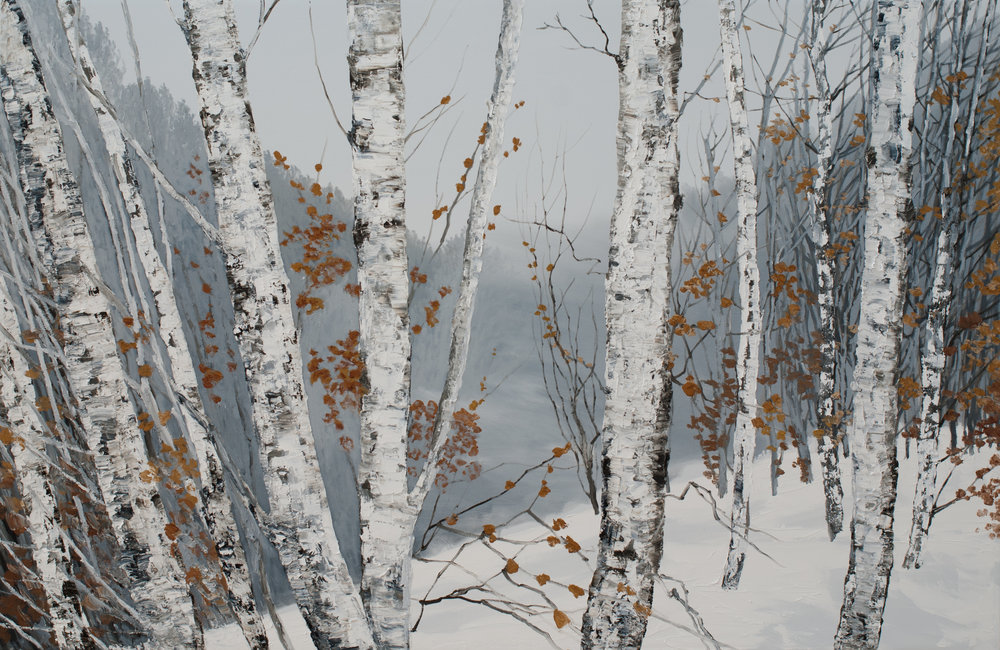 Winterpath  (2015)  Hilary Dymond  Courtoisie galerie Claire Gastaud