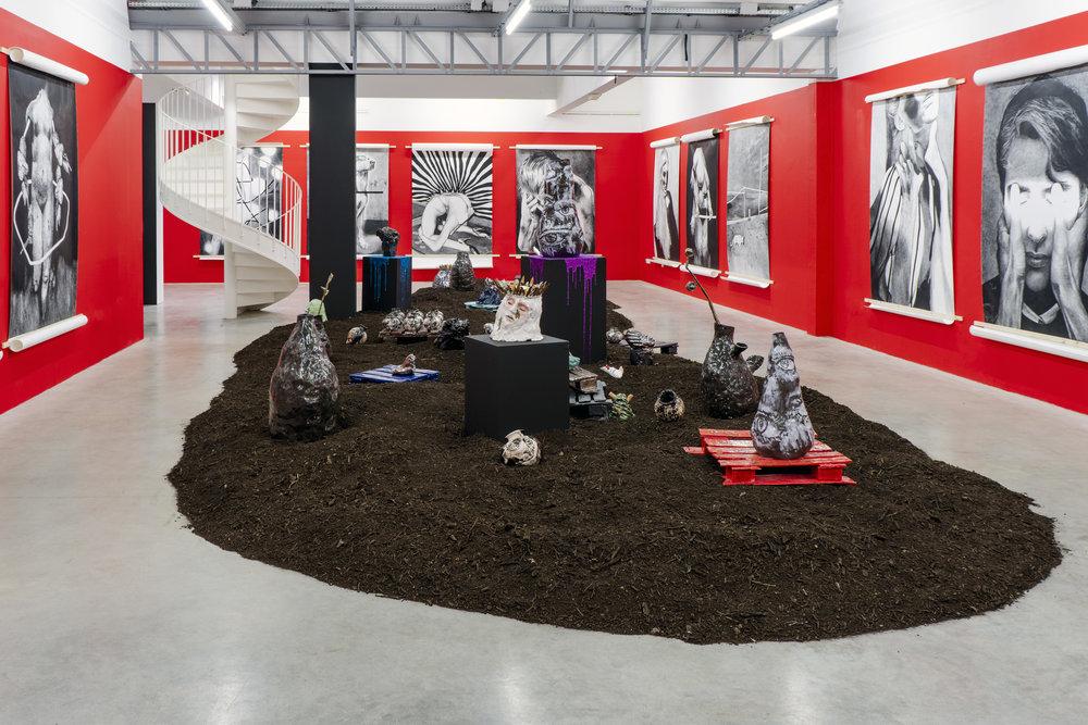 Myriam Mechita, vue de l'exposition « Je cherche des diamants dans la boue », Transpalette, Bourges, © Dorian Degoutte