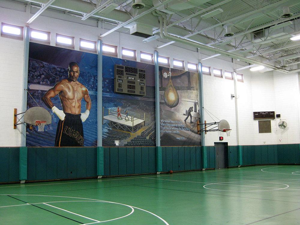 Bernard Hopkins mural at SCI Graterford.