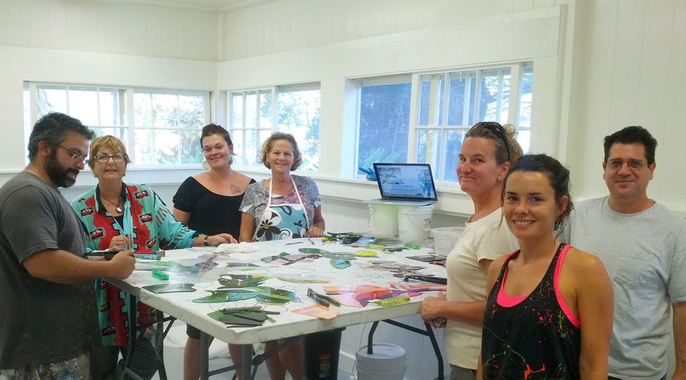 Glass Mosaic Making workshop in Maui