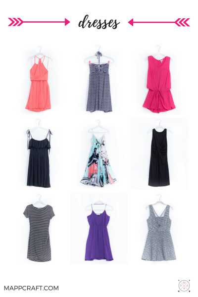 Dresses, jumpsuits, rompers, tunics