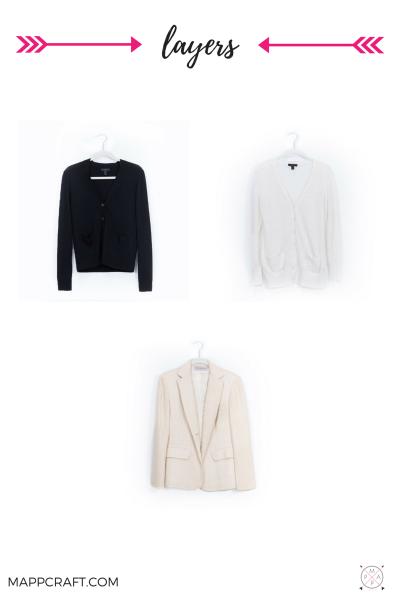 Cardigans, jackets, blazers, vests