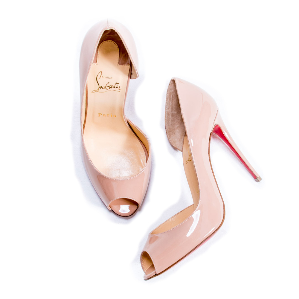Christian Louboutin Nude Demi You Peep Toe