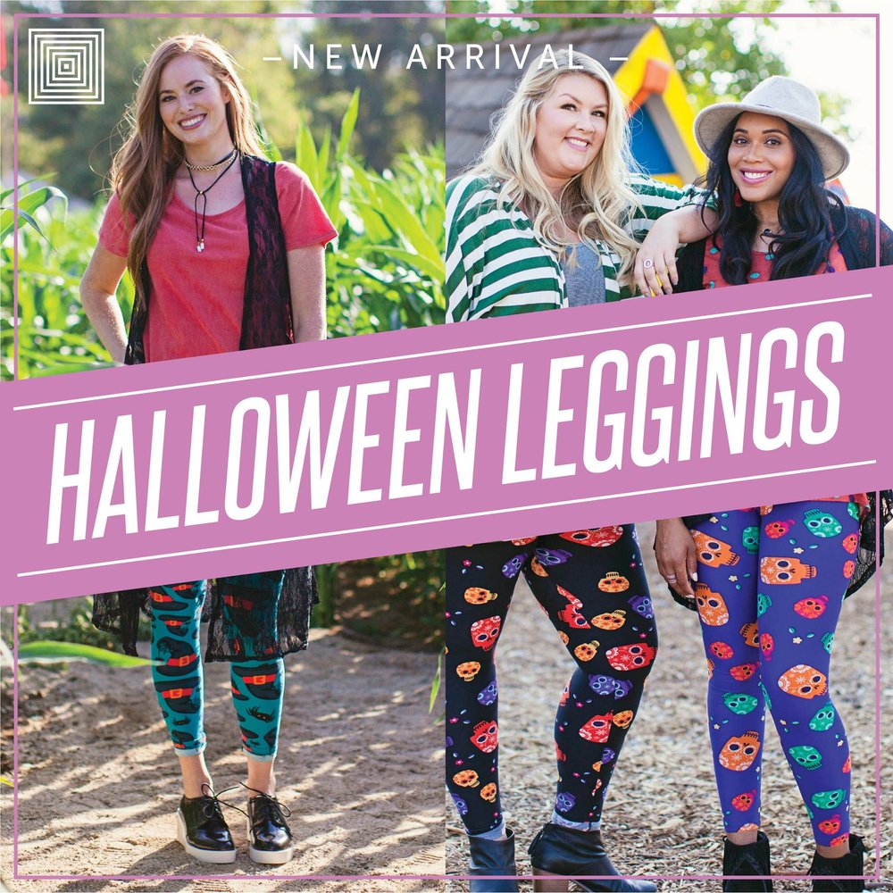This month's LuLaRoe unicorn: Halloween leggings. I'll bet you can't score the Frankenstein print.