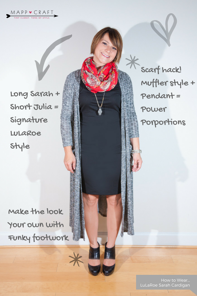 LuLaRoe Key Piece #3 Sarah Cardigan | Sarah over Julia + Funky Footwear