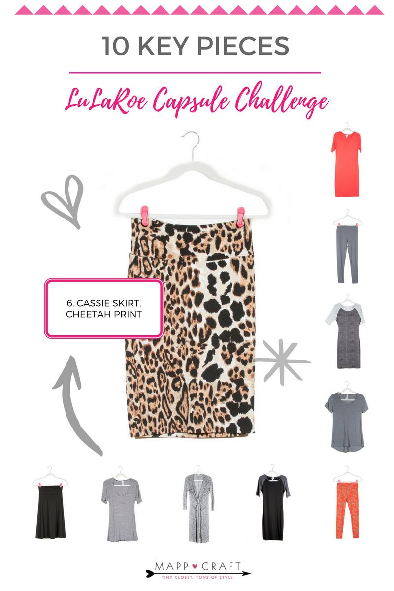 MappCraft Capsule Challenge:LuLaRoe Key Piece #6 | Cassie Skirt, Cheetah Print