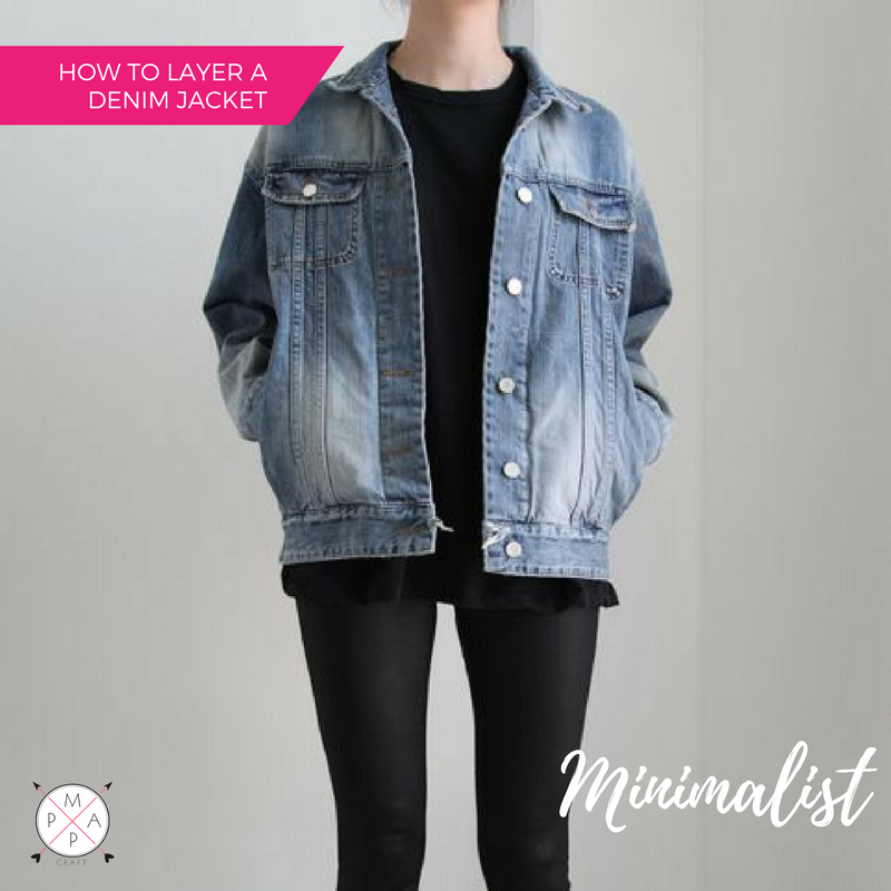 MappCraft | How to Layer a Denim Jacket for Spring: Minimalist Style, Over all Black Everything