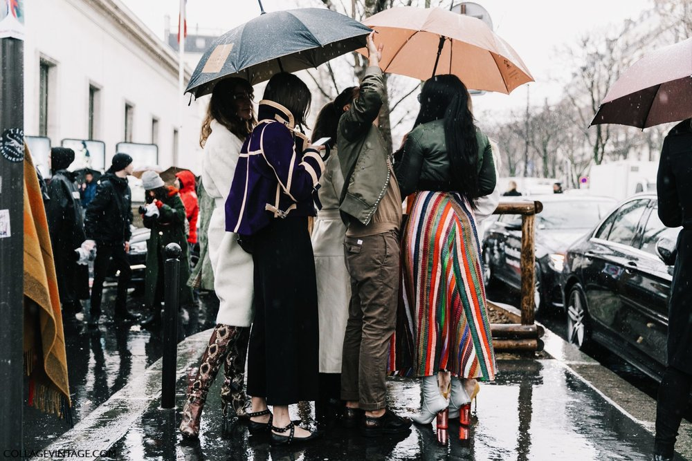 While the fashion folk spent February and early March trying very hard to look chic in sleet, I chronicled their every move #IRL from the comfort of my smart device. Image credit | Collagevintage.com
