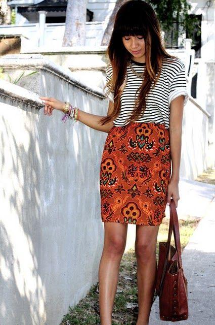 Summer Outfit Formula #2: Tee Shirt + Skirt